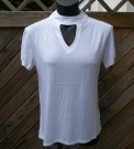 Cream/vit choker topp Rut & Circle