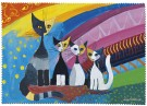 Putsduk. Rosina Wachtmeister. Under the rainbow