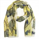 Sjal/scarf Soft Yellow Silk