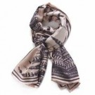 BELLA BALLOU Scarf Feather Rose/coffee